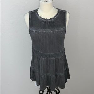 Knox Rose charcoal tank tunic sz S